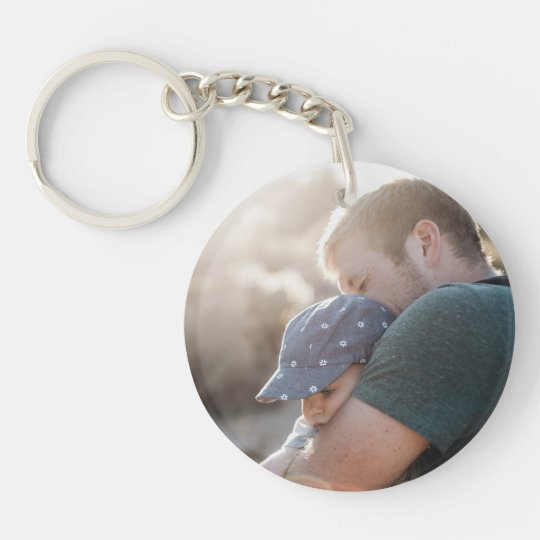 Custom Best Dad Ever Two Sided Photo Key Chain