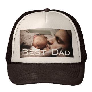 Custom Best Dad Gifts Brown Trucker Hat