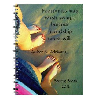 Custom Best Friend Beach Memories Note Book
