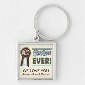 Custom Best Grandpa Ever Father s Day Keychain