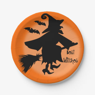 Custom best witches paper plate