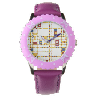 Custom Bezel with Purple Ribbons Watch