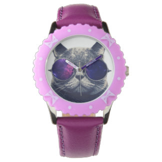 Custom Bezel with Purple Ribbons Watch