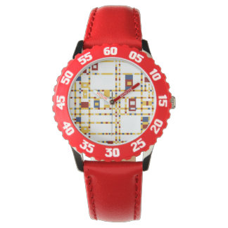 Custom Bezel with Red Numbers Watch
