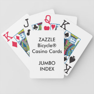 Custom Bicycle® Casino Playing Cards JUMBO INDEX