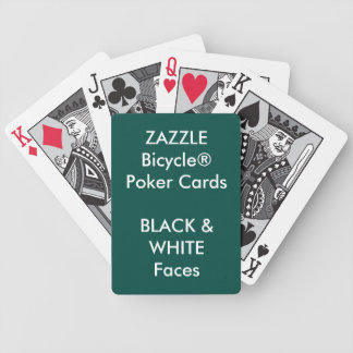 Custom Bicycle® Poker Playing Cards BLACK & WHITE