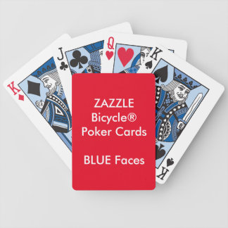 Custom Bicycle® Poker Playing Cards BLUE FACES
