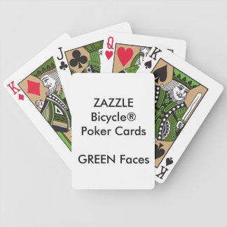 Custom Bicycle® Poker Playing Cards GREEN FACES