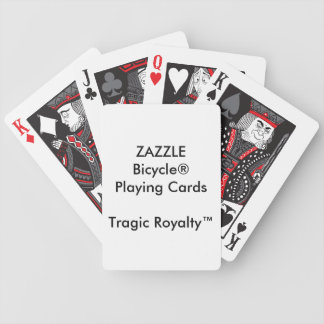 Custom Bicycle® TRAGIC ROYALTY™ Playing Cards