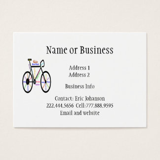 Custom Bike Logo with Inspirational Words Business Card