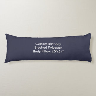 "Custom Birthday Brushed Polyester Pillow 20""x54"""