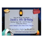 Custom Birthday Camp-Out Invitations