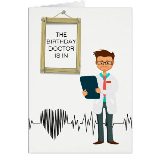 Custom Birthday Card for a Doctor