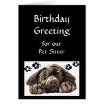 Custom Birthday Greeting, Pet, Dog Sitter Cards