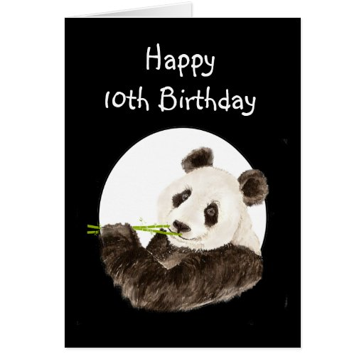 Custom Birthday Name Panda, Cute Animal Card