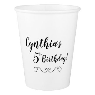 Custom Birthday Paper Cups Party Tableware