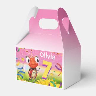 Custom Birthday Party box girl 7 yrs Lil' Ladybug