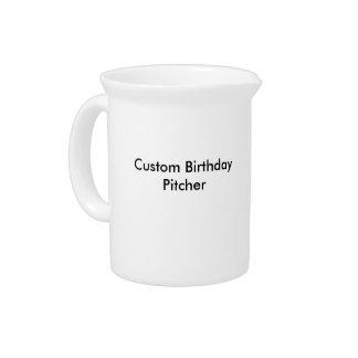 Custom Birthday Pitcher