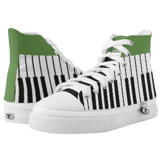 Custom Black and White Piano Keyboard. Add Name. High Tops