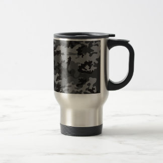 Custom Black Camo Stainless Steel Travel Mug
