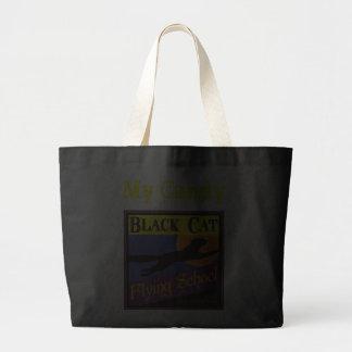 Custom Black Cat Halloween Tote Bag