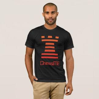 Custom Black ChessME Tee Shirts With Orange Rook