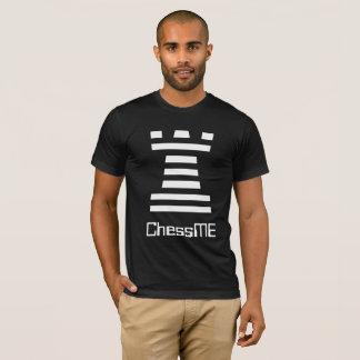 Custom Black ChessME Tee Shirts With White Rook