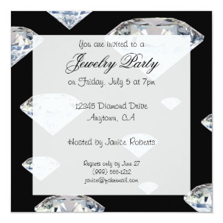 jewelry party invitations & announcements | zazzle.au, Party invitations
