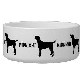 Custom Black Lab Dog Bowl