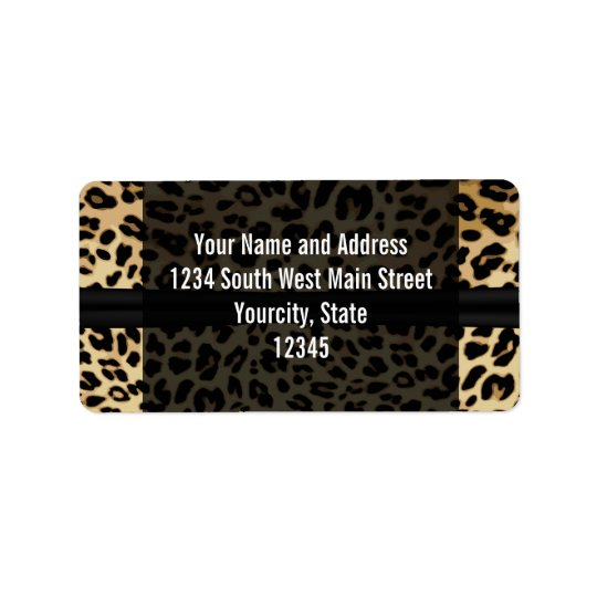 Custom Black Leopard Ribbon Jewel Girl Graduation Label