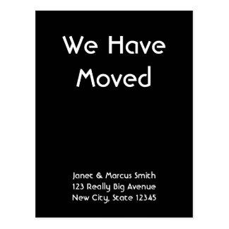 Custom Black Moving Announcement Postcard