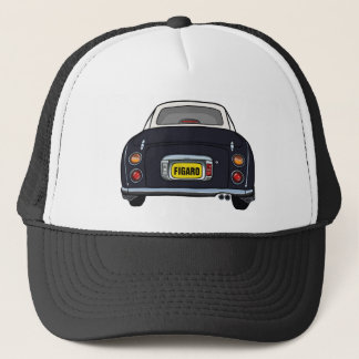 Custom Black Nissan Figaro Trucker Cap
