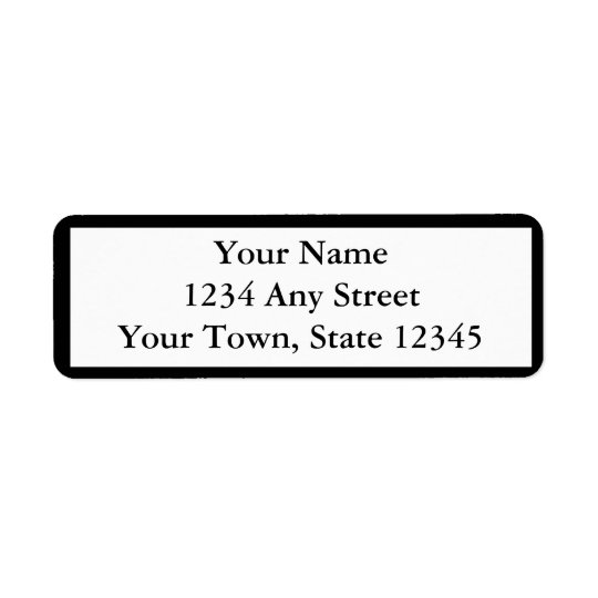Custom Black Printed Return Address Labels