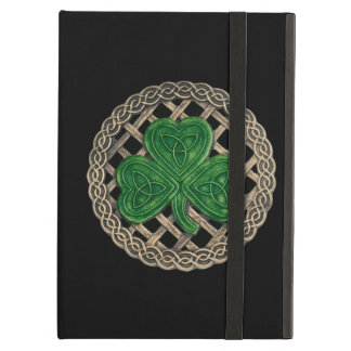 Custom Black Shamrock Celtic Knots iPad Case