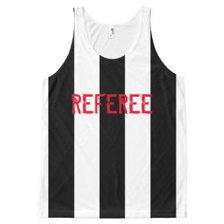 Custom black stripes design All-Over print singlet