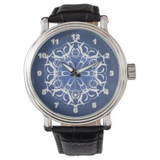 Custom Black Vintage Leather men's watch