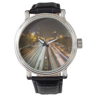 Custom Black Vintage Leather Wristwatch