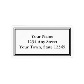 Custom Black & White Envelope Address Labels