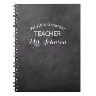 Custom blackboard chalkboard school teacher gift notebook