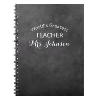 Custom blackboard chalkboard school teacher gift notebooks
