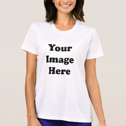 Custom Blank Template Ladies Micro-Fiber T-Shirt