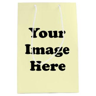 Custom Blank Template Matte Gift Bag Medium