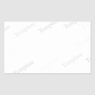 Custom Blank Template Rectangle Sticker