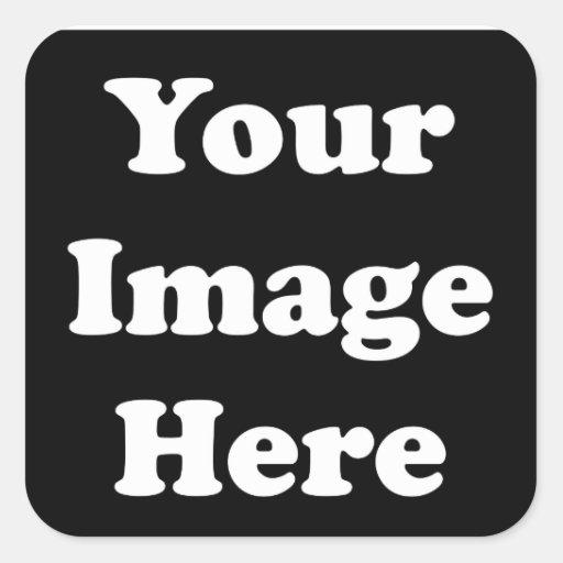 Custom Blank Template Square Sticker