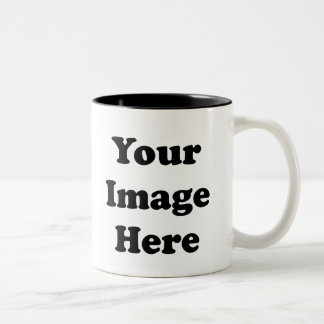 Custom Blank Template Two Tone Coffee Mug
