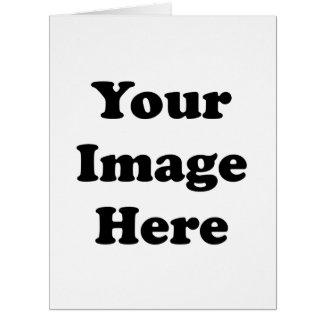 Custom Blank Template Vertical Big Greeting Card