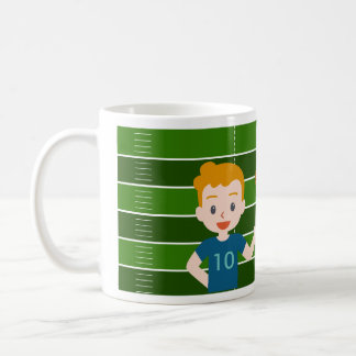 Custom Blond Boy Football Mug