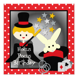 Custom Blond Boy Hocus Pocus Birthday Invites