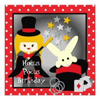 Custom Blond Girl Hocus Pocus Birthday Invites