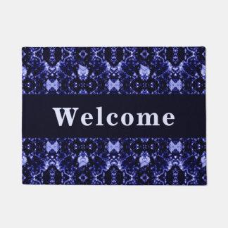 Custom Blue Abstract Pattern Doormat